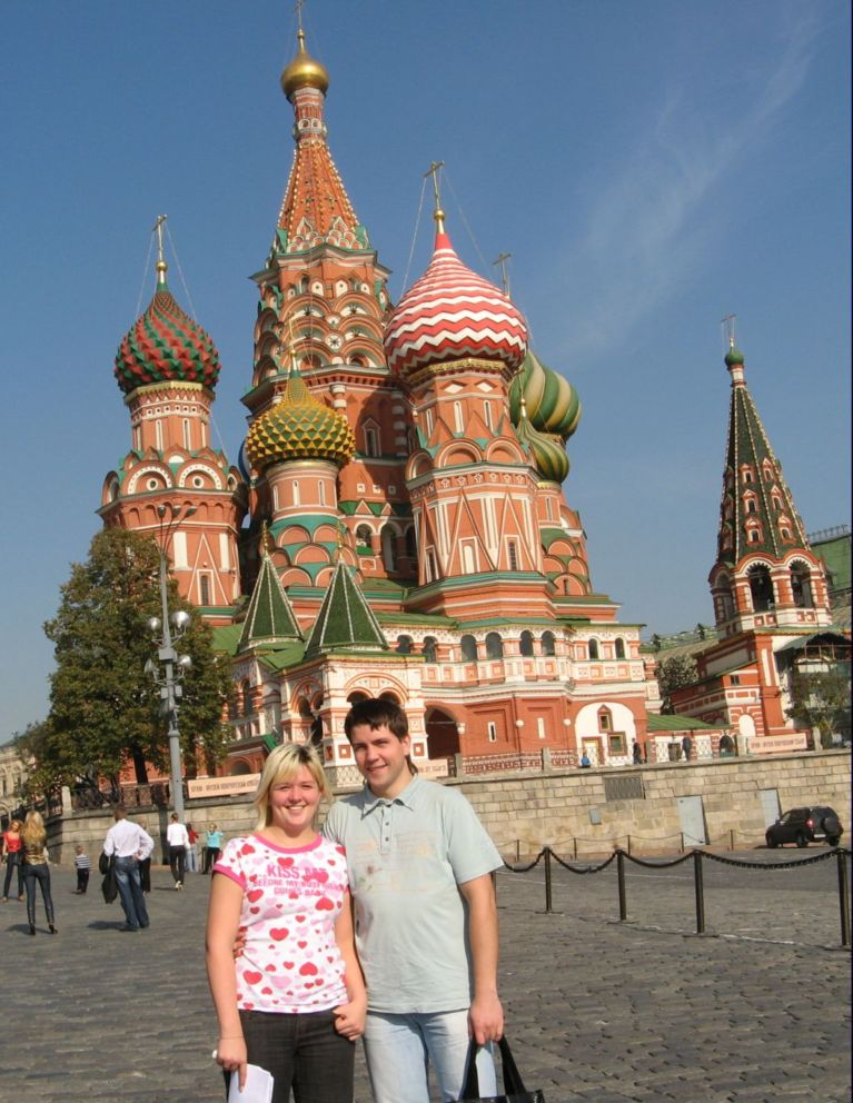 Julia and Ilya-Red Square