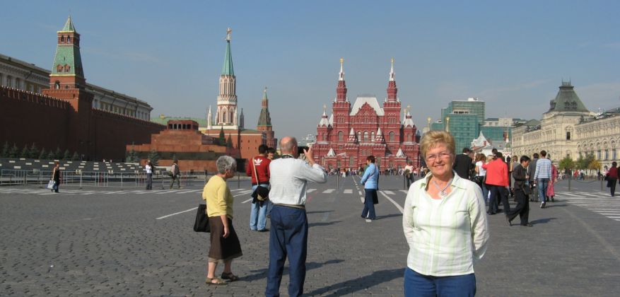 Red Square with the Lenin Mausoleum left